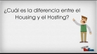 Diferencia entre Housing y Hosting
